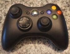 Microsoft Xbox 360 1403 Genuine OEM Black Wireless Controller Tested Free Ship