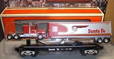 Lionel #52523 LOTS 2008 Santa Fe Warbonnet Flat Car w/Trailer & Tractor Cab (DM)
