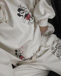Sweatpants and Sweatshirt Sweat Set Mickey Mouse Tracksuit Cotton OVERSIZED