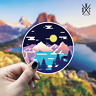 Mountain Moonlight Sticker Vinyl Decal - Car Laptop Macbook Bumper Stickers