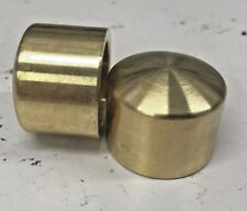 BRASS Harley SOFTAIL SPORTSTER DYNA TOURING Front Axle Covers Domed bobber 2535