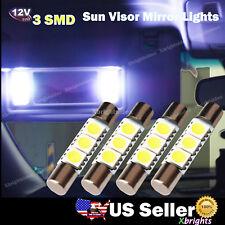 4 pcs 6614F Car Sun Visor Vanity Mirror Lights 3-SMD 5050 LED Xenon White New