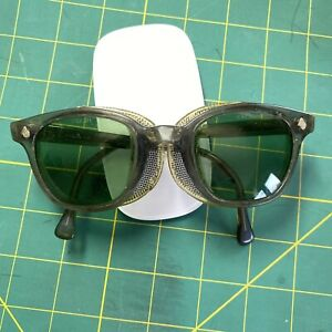 Vintage AO American Optical Safety Glasses W/screen Side Shields Steampunk