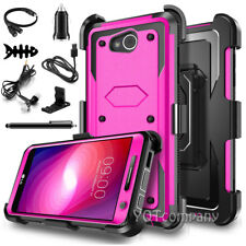 For LG Fiesta 2/ X Charge/X Power 2 Armor Rugged Hard Case Cover Clip Holster