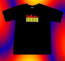 > LED Leucht Lightshirt Disco Musik T Shirt Equalizer <