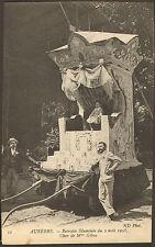 89 AUXERRE CARTE POSTALE RETRAITE ILLUMINEE CHAR MME GIBOU 1908