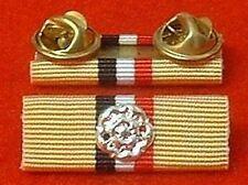 OP Telic Iraq Medal Ribbon Bar STUD TYPE Iraq War Medal Ribbon Bar + Rosette