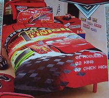 Disney Pixar Cars Finishline Double Bed Quilt Cover Set New