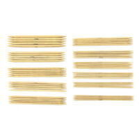55Pcs Bamboo Knit Tool Set Double Pointed Sweater Glove Knitting Needles Tool