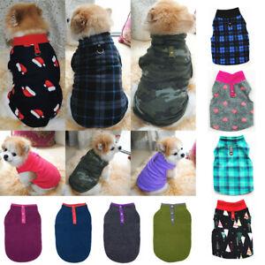 UK Small Dog Pet Winter Soft Warm Jacket Coat Fleece Clothes Cute Coat Sweater