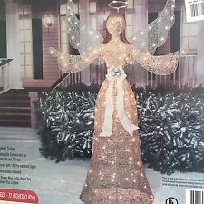 """72"""" Lighted Shimmering Champagne Christmas Angel Outdoor Christmas Decor"""
