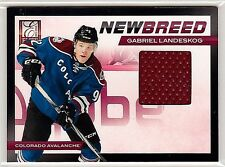 GABRIEL LANDESKOG 2011-12 PANINI ELITE NEW BREED GAME WORN JERSEY - ROOKIE