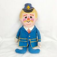 Vintage 1967 Mattel Captain Kangaroo Talking Doll Plush Stuffed Toy TV Show