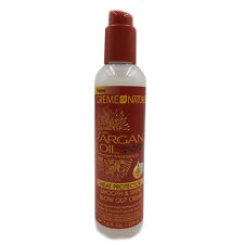 [CREME OF NATURE] ARGAN OIL HEAT PROTECTOR SMOOTH & SHINE BLOW OUT CREAM 7.6OZ