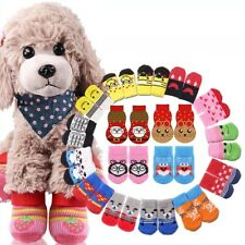 New Puppy Cat Dog Punny Cute Cartoon Non-skid Anti-Slip Socks Paw Protectors US