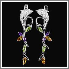 Peridot Amethyst Fine Earrings