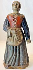 Rare & Scarce Antique Terracotta Figurine Woman Statue - 19th Century