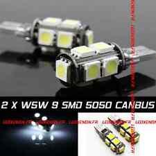 KIT 2 AMPOULE LED W5W CANBUS PASSAT B4 B5 B6 B7 CC TOURAN 1 2 3 TIGUAN TOUAREG