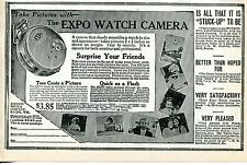 1926 small Print Ad of The Expo Pocket Watch Spy Camera