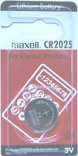 Maxell Lithium-Based CR2025 Single Use Batteries