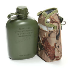 1L Army Military Canteen Cycling Water Bottle Outdoor Camping Hiking Tactical