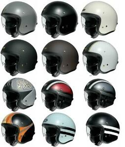 SHOEI New J.O. Open Face Urban Motorcycle Motorbike Touring Helmet