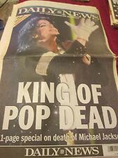 COLLECTIBLE - MICHAEL JACKSON DEATH NEW YORK DAILY NEWS JUNE 26, 2009