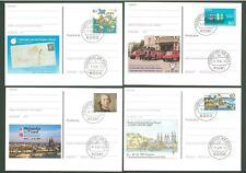 Stationery An30 4 Postcards Sc Germany 1992/94 Philately Below face