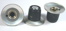 "KNOB 1/4"" MEDIUM SKIRTED-ALUMINUM+POINTER 1-1/8"" - Rogan? *UNUSED* *NOS* Qty:3"