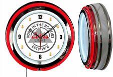 "Coors Light Born in the Rockies Beer 19"" Double Neon Clock Red Beer Mugs Numbers"