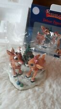 Enesco Rudolph & the Island Of Misfit Toys New Deluxe Fingurine Vtg 2000 #872156