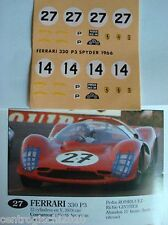 DECALS KIT 1/43 FERRARI 365 P2 LE MANS 1966 SCUDERIA FILIPPINETTI