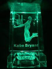 Kobe Bryant Crystal Statue Lakers Collectible Memorabilia Snake Mamba NBA Jersey