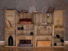 Cassette della frutta,portabottiglie,libreria,arredo wine bar modulare.