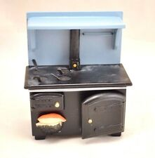 Stove - Wood - Black - kitchen - 1/12 scale wooden dollhouse miniature  D5891
