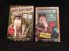 Lot of two Duck Dynasty books, Si-ology and Happy, Happy, Happy, Phil and Si