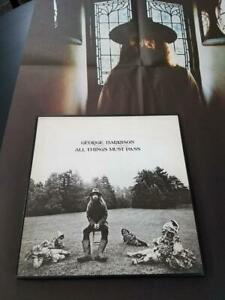 BEATLES GEORGE HARRISON 3 X LP BOX SET ALL THINGS MUST PASS POSTER ALL EX