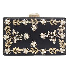 Luxury rhinestone Flower Ladies Women's Party Purse Clutch Handbag Bridal Wallet