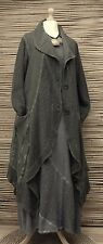 Lagenlook * KEKOO * coton beautiful 2 poches tricot longue veste * kaki * taille 42-44-46