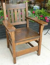 Antique circa 1910 Mission Style Arts & Crafts Movement Oak Arm Chair Phila PA
