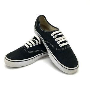 Vans Off The Wall Mens Size 6.5 Women's 8 Black Canvas Low Top Skateboard Shoes
