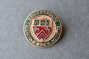 Vintage Derbyshire Federation Womens Institute Derby WI Pin badge