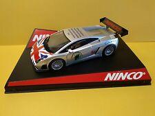 NINCO 50448A LAMBORGHINI GALLARDO UK '08 LTD.ED 1/32 SLOT CAR SCALEXTRIC COMPAT.