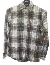 Timberland 100% Cotton Green Plaid Long Sleeve Causal Shirt Small