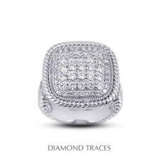 Certified Diamonds 950 Plat. Right Hand Ring 1 1/2ct E Vs2 Round Cut Earth Mined