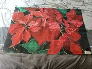 Beautiful Grand Poinsettia Garden Flag By Toland #625 FLAG ONLY No Pole