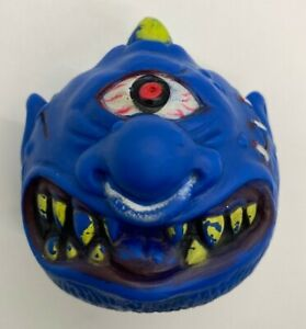 Vintage Blue Horn Head Monster Rubber Ball KO Knock Off Mad Ball Crazy