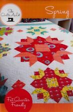 Spring - fun and easy pieced quilt PATTERN - FQ friendly - She Quilts a Lot