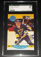 1990-91 BRETT HULL #1 St. Louis Blues NHL Pro Set Promo Card Graded SGC 9