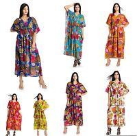 Femmes 100% Coton Été Célébrité Long Robe Caftan Style Africain Taille
